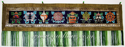 Eight Auspicious Signs in a Silk Banner